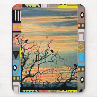Birds on the branches mouse pad