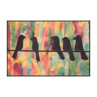 Birds on the Line Canvas Print