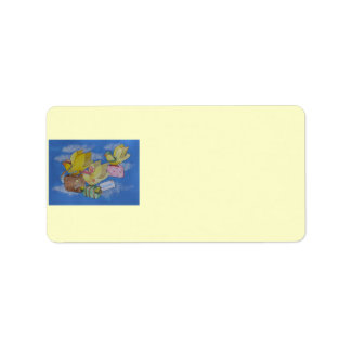 Birds on the Move New Address Announcement Personalized Address Labels