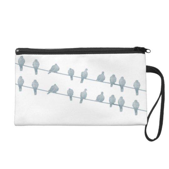 Birds on the Wire II Wristlet