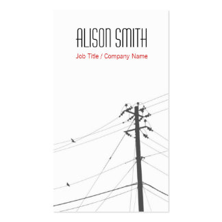 Birds on to power lines business card templates