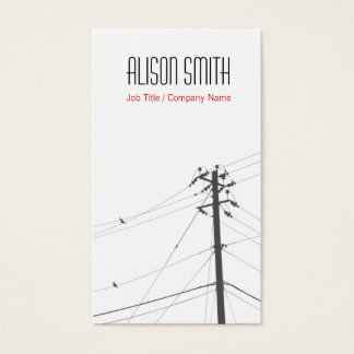 Birds on to power lines business card