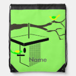 Birds on Tree Branch and Birdhouse Personalized Backpack