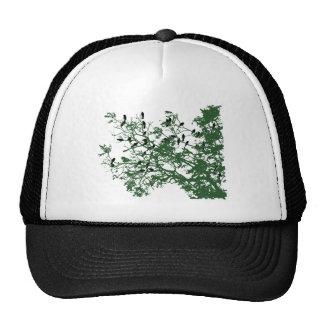 Birds on tree hat