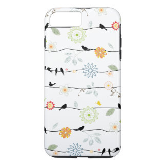 Birds on Vines with Flowers iPhone 7 Plus Case
