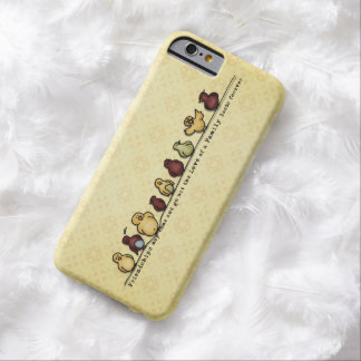 Birds on wire yellow background family quote barely there iPhone 6 case