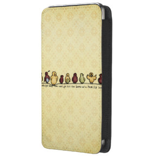 Birds on wire yellow background family quote galaxy s5 pouch