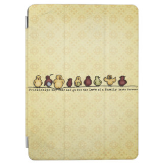 Birds on wire yellow background family quote iPad air cover