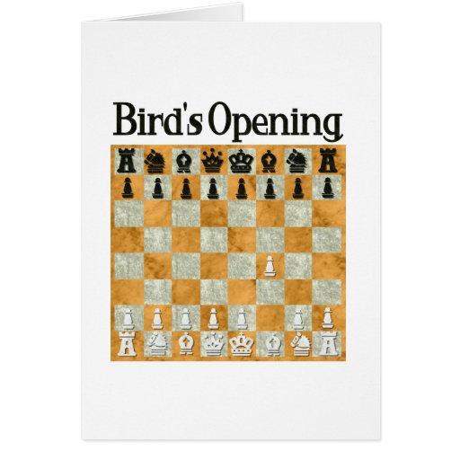 Bird's Opening Greeting Card