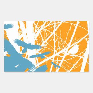 Birds Outdoors Rectangular Sticker