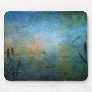 Birds over the Lake Mouse Pad