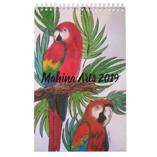 Birds paradise 2019 calender calendar