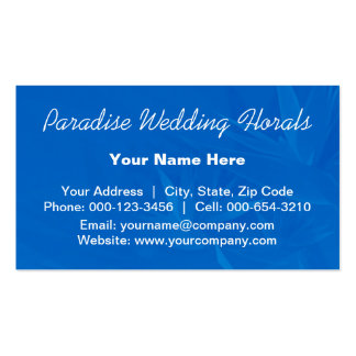 birds paradise.blue ~ bc Double-Sided standard business cards (Pack of 100)