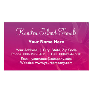 birds paradise.purple ~ bc Double-Sided standard business cards (Pack of 100)