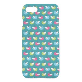 Birds pattern Blue iPhone 7 Case