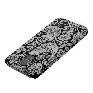 Birds Pattern Galaxy S5 Case - Black and Grey