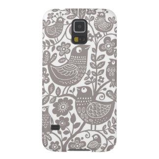 Birds Pattern Galaxy S5 Case - Warm grey