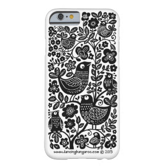 Birds Pattern iPhone 6 Case - Black and white
