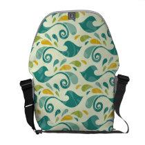 Birds pattern messenger bag