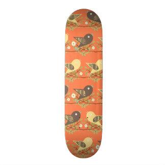 Birds pattern skateboard deck