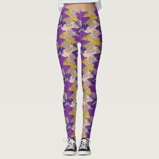 Birds Pattern Tesselation Purple leggings