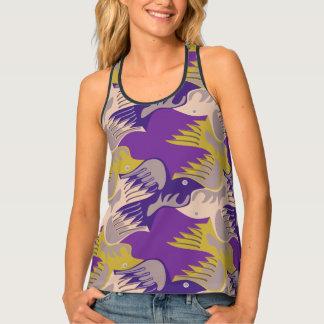 Birds Pattern Tesselation Purple Tank Top 1