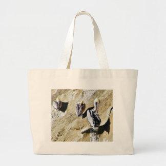 Birds Pelicans Poop Tote Bags