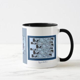 Birds Perched 2 Coffee Tea Mug by gretchen