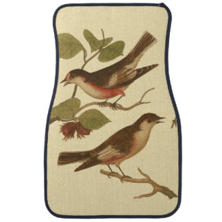Birds Perched on Branches Eating Insects Car Mat