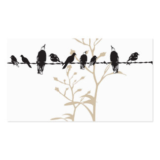 Birds Profile Card Double-Sided Standard Business Cards (Pack Of 100)