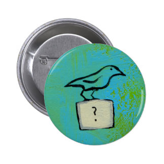 Birds question marks colorful art Orderly Universe 2 Inch Round Button