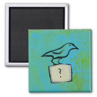 Birds question marks colorful art orderly universe fridge magnet