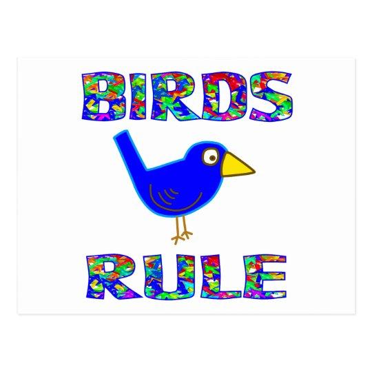 BIRDS RULE POSTCARD
