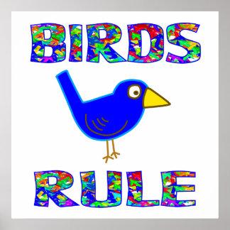 BIRDS RULE Poster