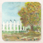 Birds Shelter in an Autumn Tree Coasters Square Paper Coaster