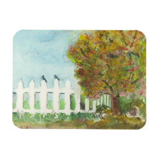 Birds Shelter in an Autumn Tree (Watercolor) Magnet