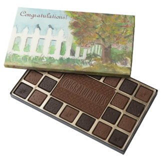 Birds Shelter in an Autumn Tree (Watercolor) 45 Piece Assorted Chocolate Box