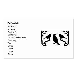Birds Silhouette Business Cards