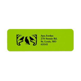 Birds Silhouette Custom Return Address Label