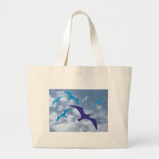 Birds silhouettes clouds birds silhouette clouds tote bags