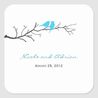 Birds Silhouettes Favor Stickers or Envelope Seals Stickers