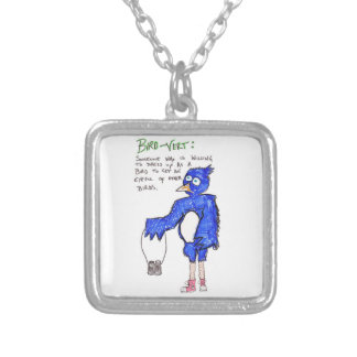 Birds!! Silver Plated Necklace