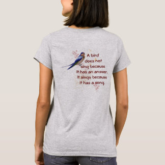 Birds Sing Because - Women's Fashion T-shirt
