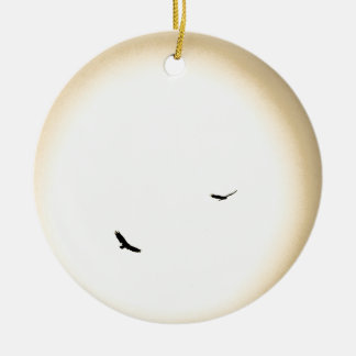 birds soaring free in the sky christmas tree ornament