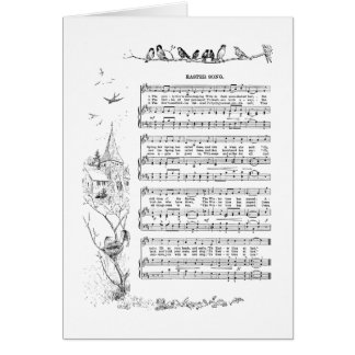 Birds, Spring and Easter Song Card