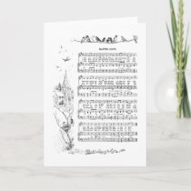 Birds, Spring and Easter Song Holiday Card