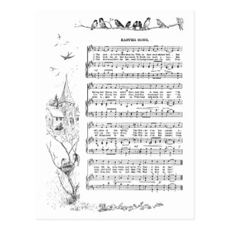 Birds, Spring and Easter Song Postcard