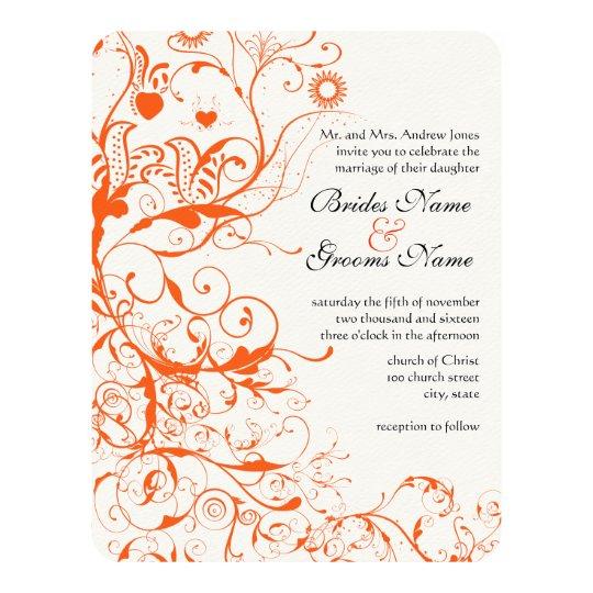 Birds & Swirls Wedding Invitations
