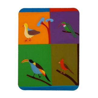 Birds that Visit the Valley of Bogota 2008 Rectangular Photo Magnet
