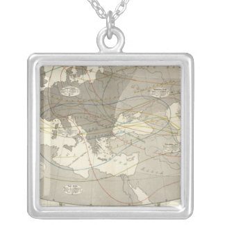 Birds throughout Europe Square Pendant Necklace